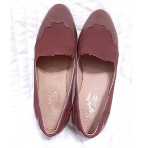 Seychelles Western Brown Leather Loafer Flats